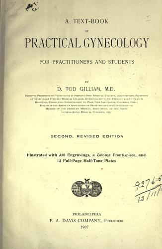 A text-book of practical gynecology