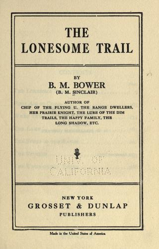 Download The lonesome trail