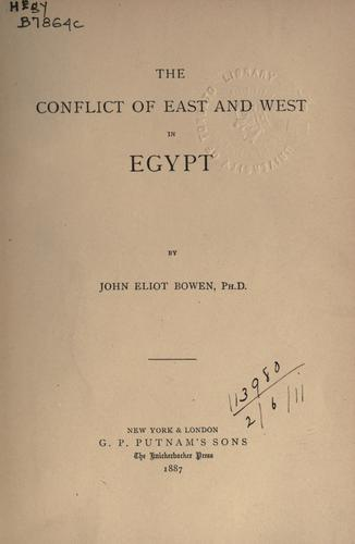 Download The conflict of East and West in Egypt.
