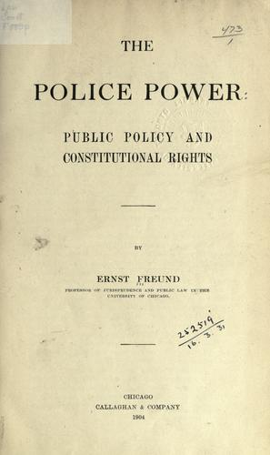 Download The police power