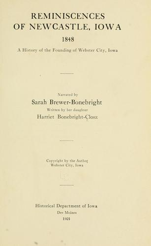 Download Reminiscences of Newcastle, Iowa, 1848