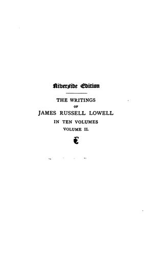 Download The writings of James Russell Lowell …