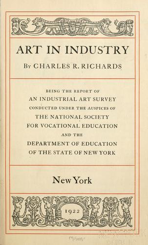 Download Art in industry