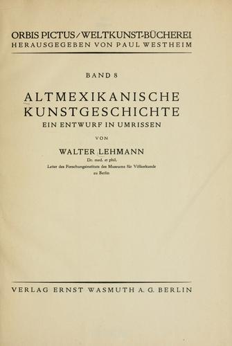 Download Altmexikanische kunstgeschichte