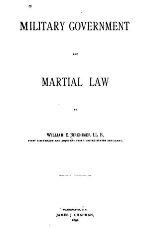 Download Military government and martial law