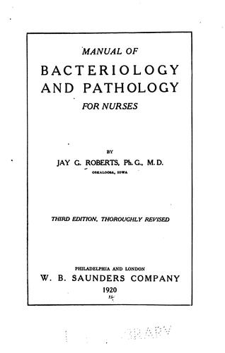 Download Manual of bacteriology and pathology for nurses