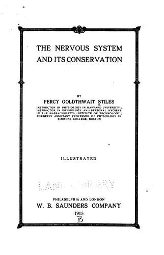 Download The nervous system and its conservation