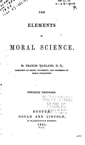 Download The elements of moral science