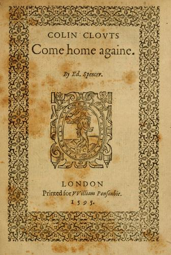 Colin Clouts come home againe by Edmund Spenser
