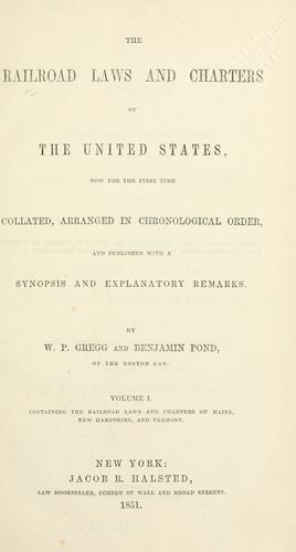 Download The railroad laws and charters of the United States