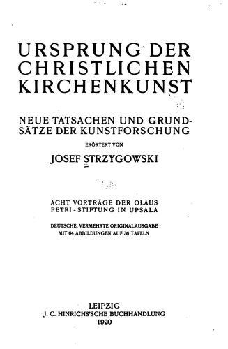 Download Ursprung der christlichen Kirchenkunst