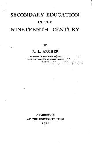 Download Secondary education in the nineteenth century