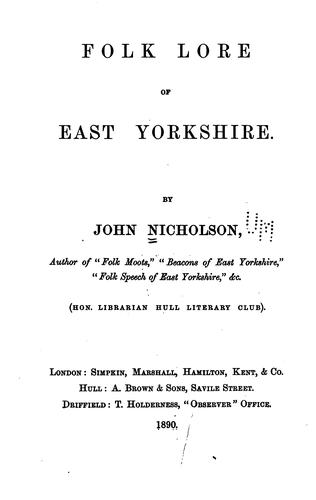 Download Folk lore of East Yorkshire.