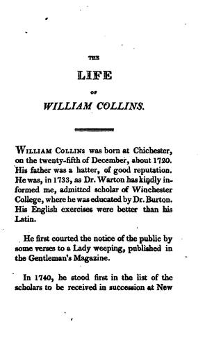 The poetical works of William Collins.