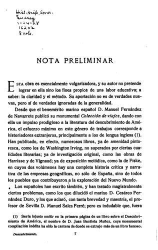 Historia de América española …
