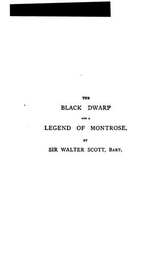 Download The black dwarf and A legend of Montrose.