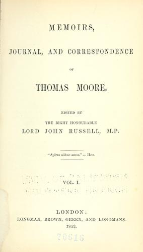 Download Memoirs, journal, and correspondence of Thomas Moore.