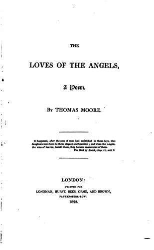The loves of the angels