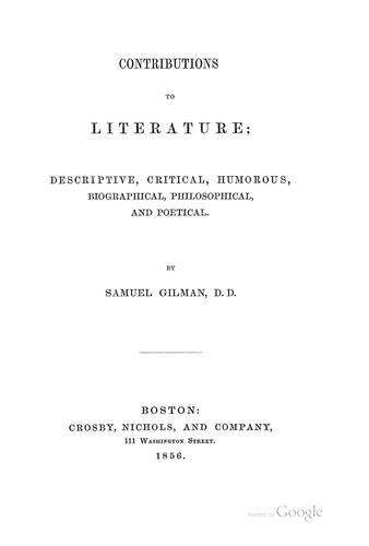 Contributions to literature