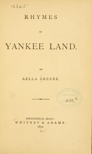 Rhymes of Yankee land