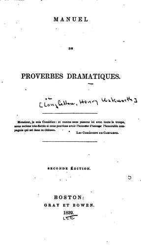 Download Manuel de proverbes dramatiques.
