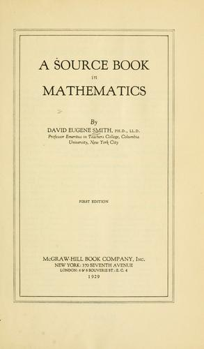 Download A source book in mathematics