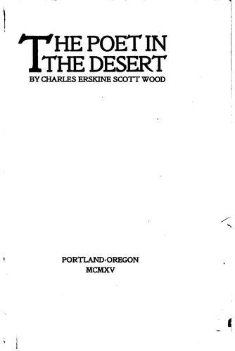 The poet in the desert.