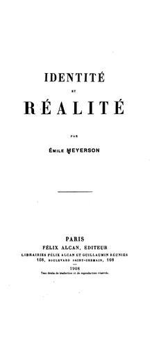 Identité et réalité