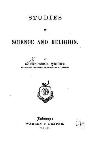 Studies in science and religion.
