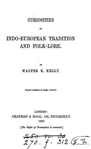 Download Curiosities of Indo-European tradition and folk-lore.