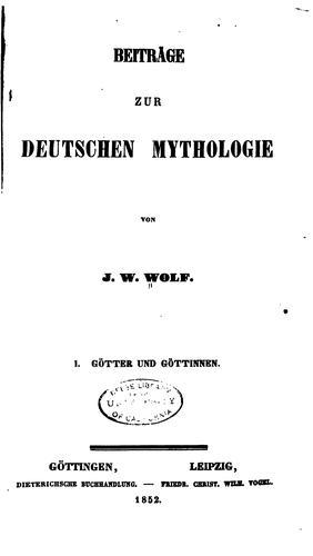 Download Beiträge zur deutschen mythologie