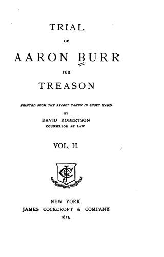Download Trial of Aaron Burr for treason