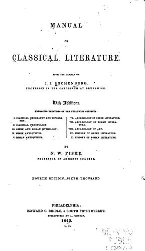 Manual of classical literature.