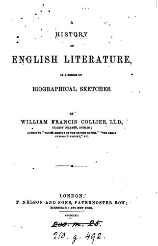 Download A history of English literature in a series of biographical sketches.