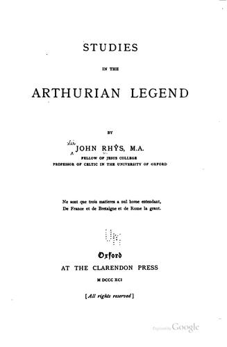 Download Studies in the Arthurian legend