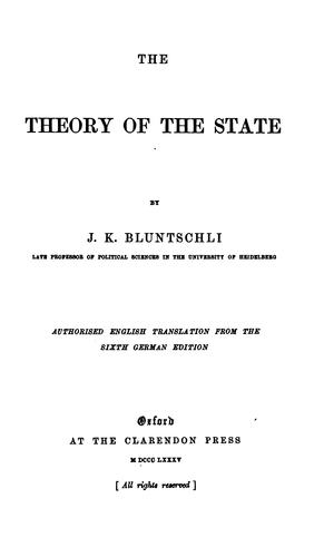 The theory of the state