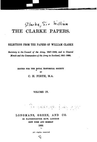 Download The Clarke papers.