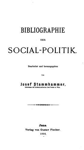 Bibliographie der social-politik.