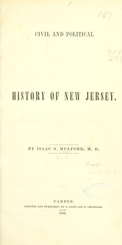 Download Civil and political history of New Jersey.