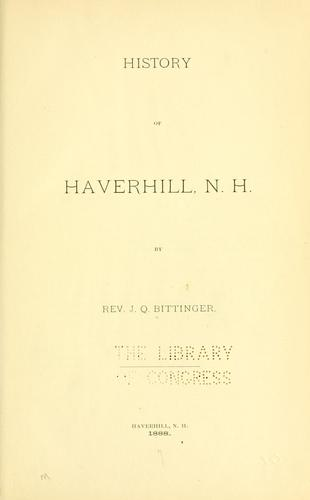 Download History of Haverhill, N. H.