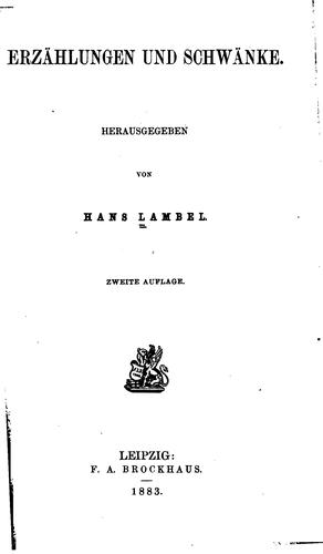 Download Erzählungen und schwänke.