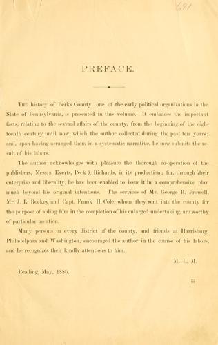 History of Berks county in Pennsylvania