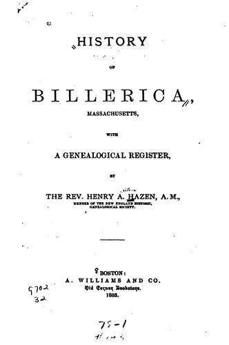 History of Billerica, Massachusetts