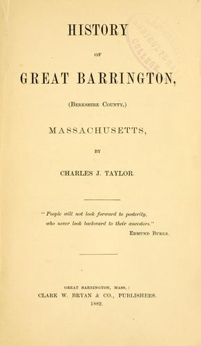 Download History of Great Barrington
