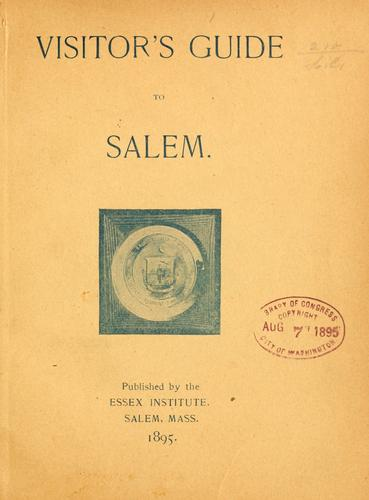 Visitor's guide to Salem.