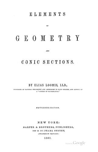 Elements of geometry and conic sections.