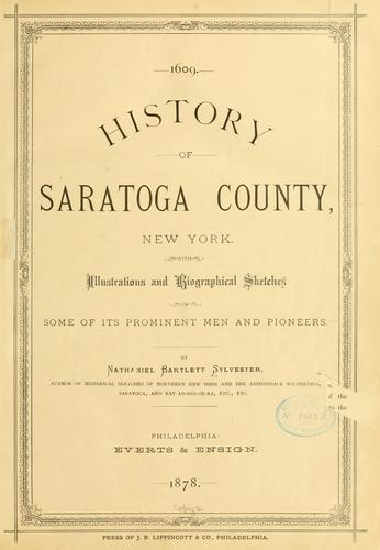 Download History of Saratoga County, New York