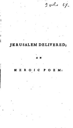 Jerusalem delivered by Torquato Tasso