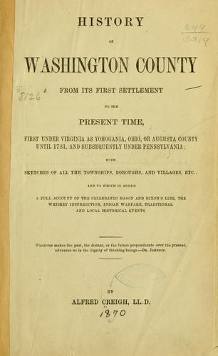 Download History of Washington County