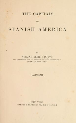 The capitals of Spanish America
